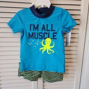 Carter's 18 months 2 pc bathing suit set